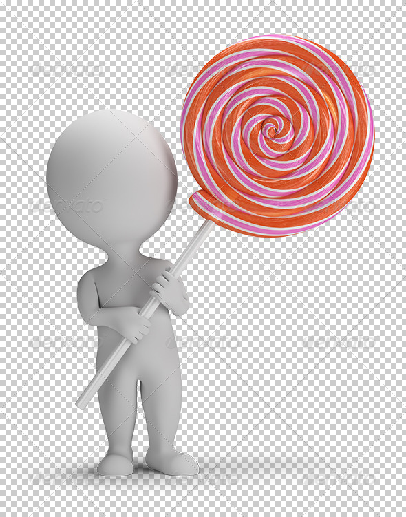 GraphicRiver 3D small people lollipop 5677649