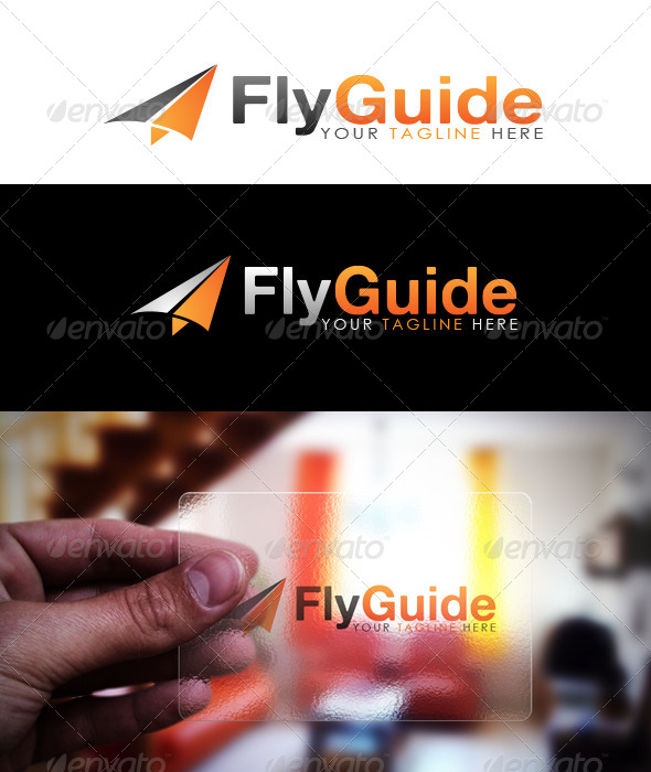 GraphicRiver Fly Guide Logo Mock Up 5666357