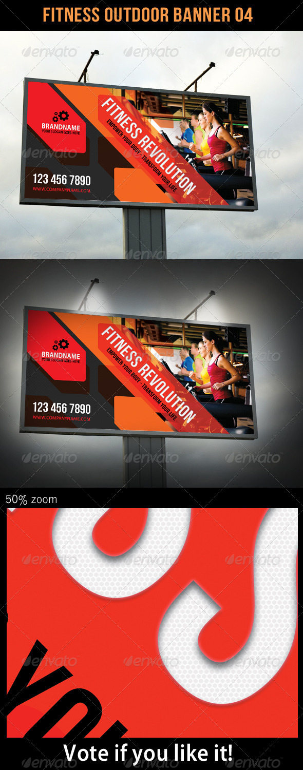 Fitness Outdoor Banner 04 - Signage Print Templates