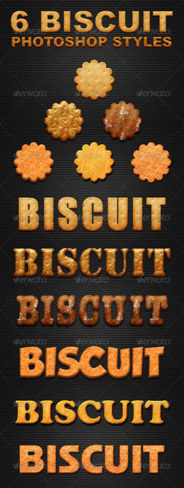 GraphicRiver Six Biscuit Phosthop Styles 5678126