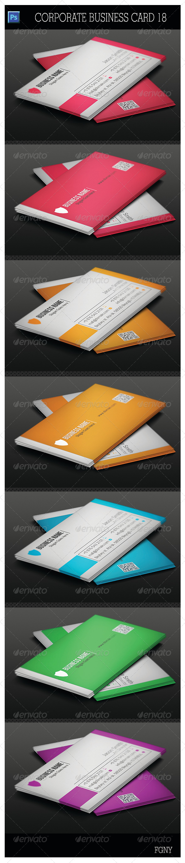 GraphicRiver Corporate Business Card 18 5678141