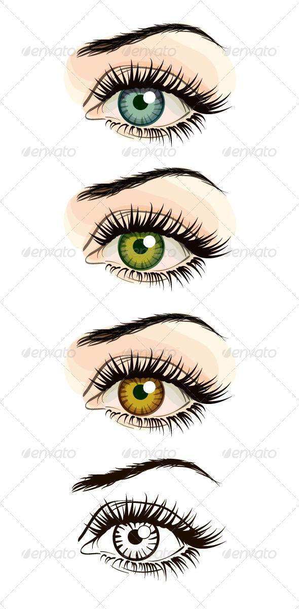 GraphicRiver Woman Eye Illustration 5678204
