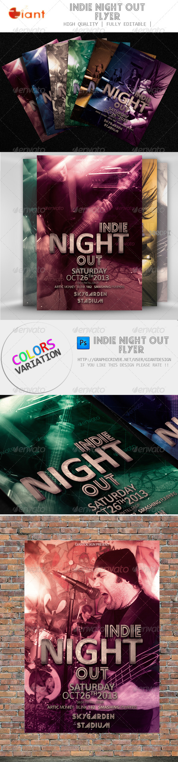 GraphicRiver Indie Night Out Flyer 5678352