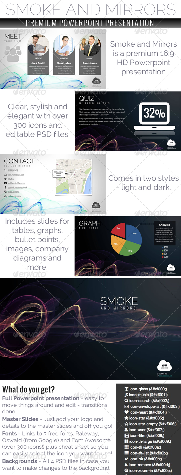 GraphicRiver Smoke and Mirrors Powerpoint Presentation 5644997