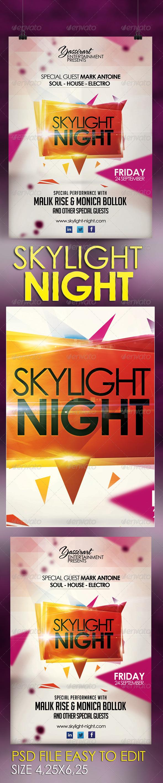 GraphicRiver Skylight Night 2 Flyer Template 5678833