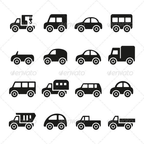 GraphicRiver Cars Icon Set 5678884