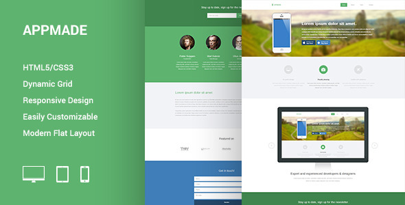 ThemeForest APPMADE Responsive App Landing Page 5678898