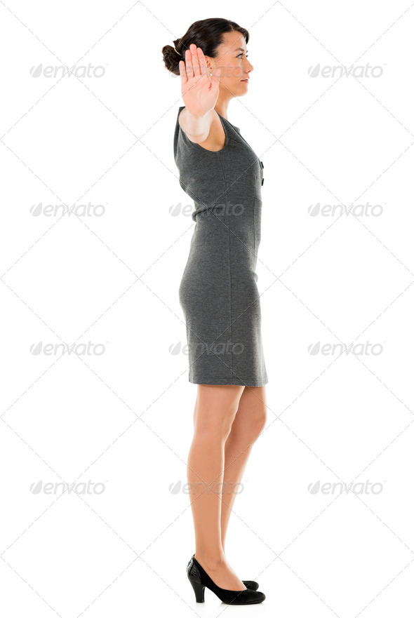 Indifferent business woman - Stock Photo - Images