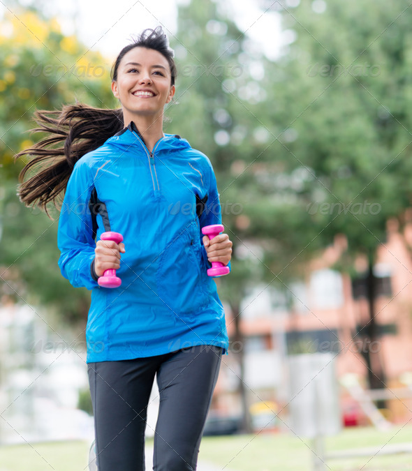 Female runner outdoors - Stock Photo - Images