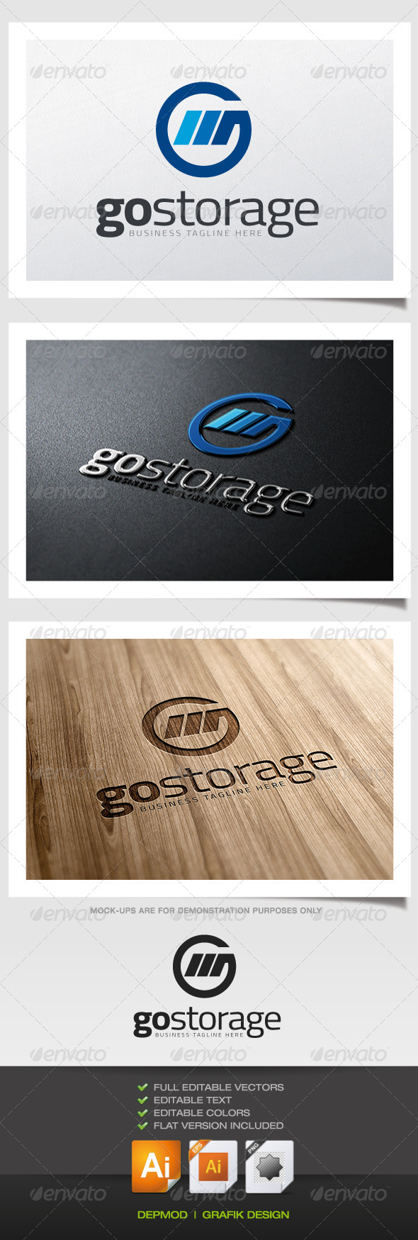 GraphicRiver Go Storage Logo 5679174