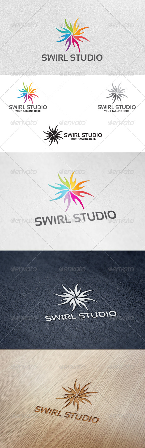 Swirl Studio Logo Template