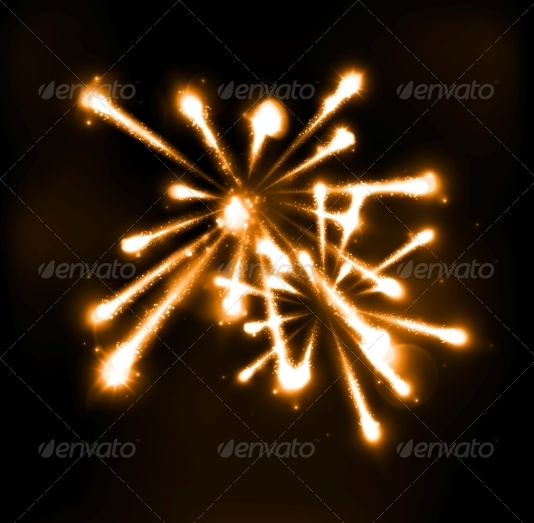 GraphicRiver Fireworks in Night Sky 5679487