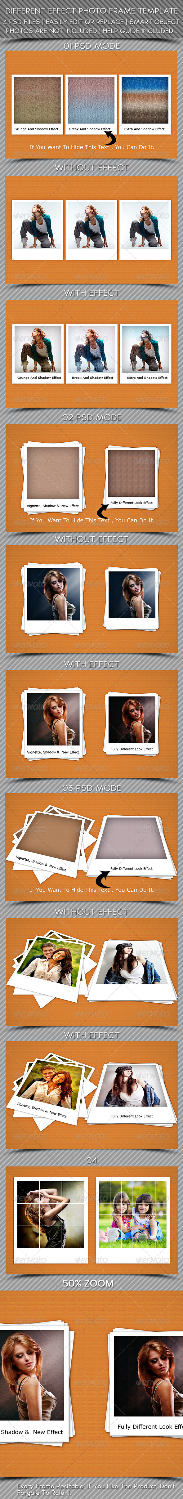 GraphicRiver Different Effect Photoframe Template 5679490
