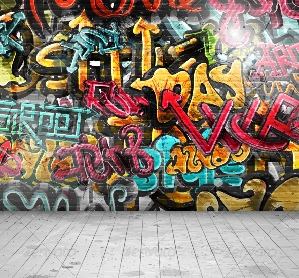 GraphicRiver Graffiti on Wall 5679537