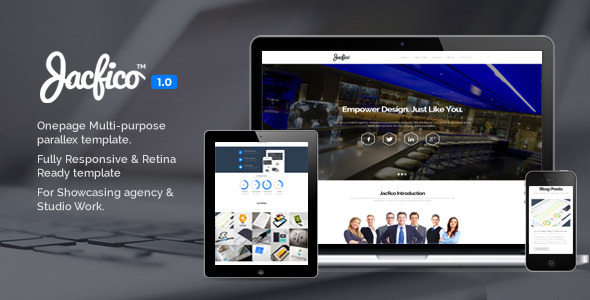 ThemeForest Jacfico Responsive Onepage Template 5679543