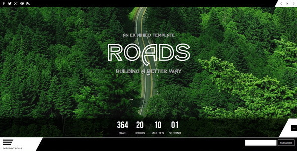 ThemeForest Roads Responsive Coming Soon Page 5679672