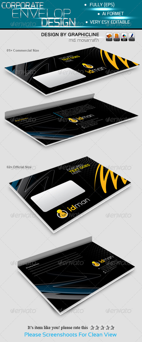 GraphicRiver Official Envelop Packaging 5679692