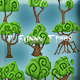11 Funny Trees Digital Painting Pack - GraphicRiver Item for Sale