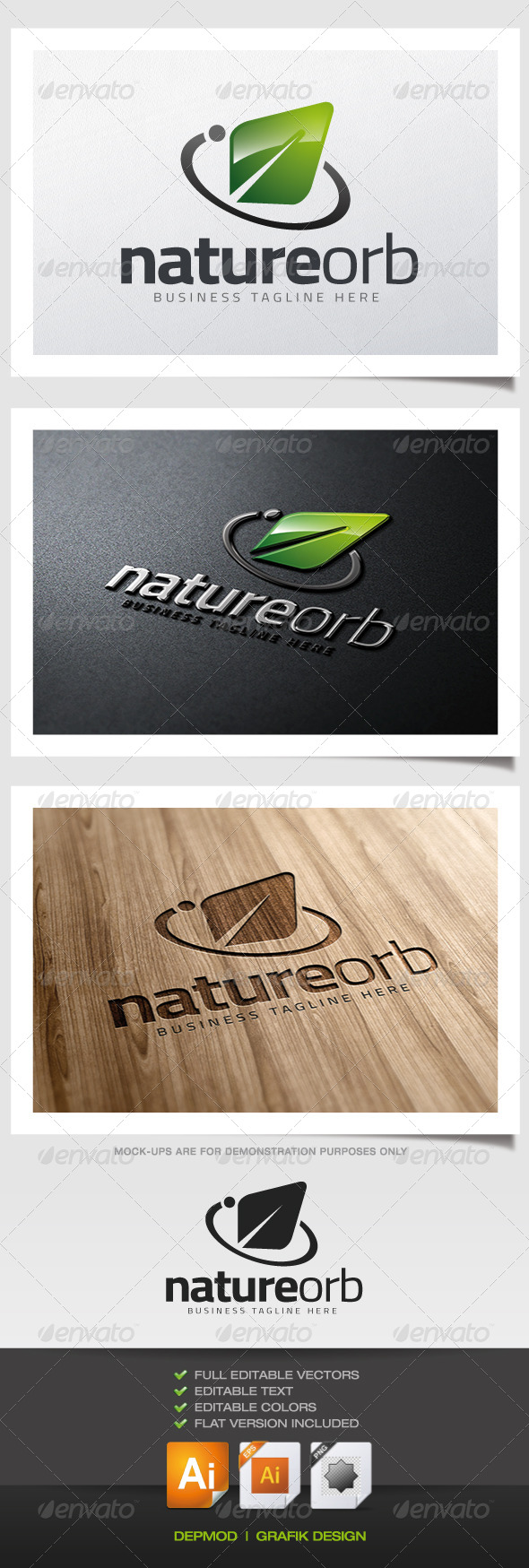 Nature Orb Logo - Nature Logo Templates