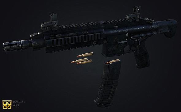 Assault Rifle - 3DOcean Item for Sale
