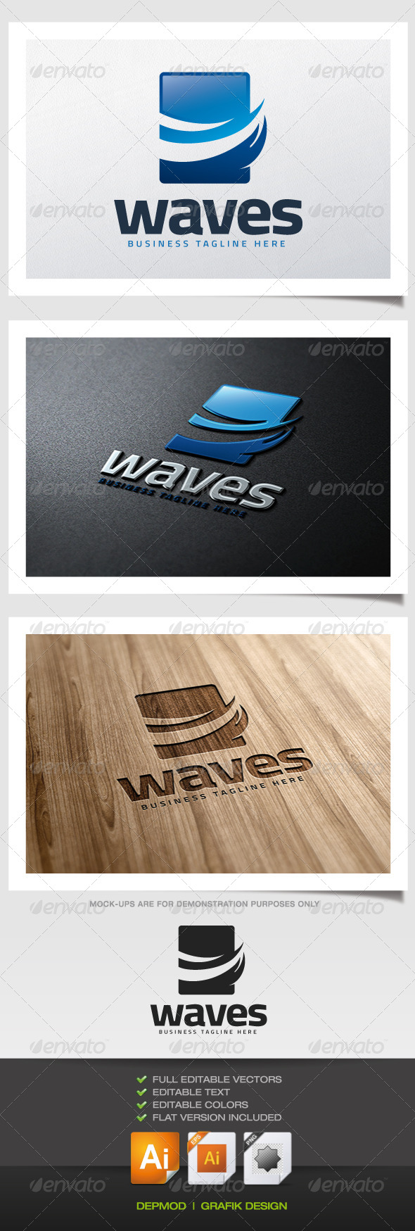 Waves Logo - Nature Logo Templates