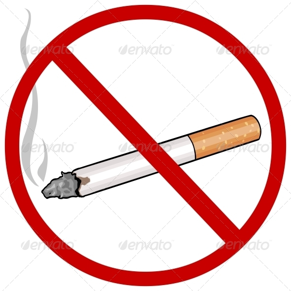 Vector Cartoon Sign No Smokin