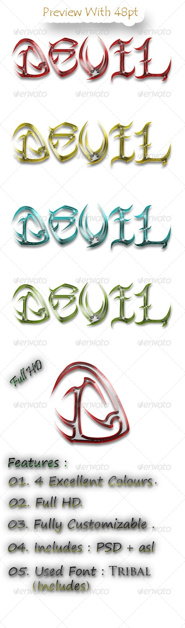 GraphicRiver Devil Text Style Pack v1.0 5666515