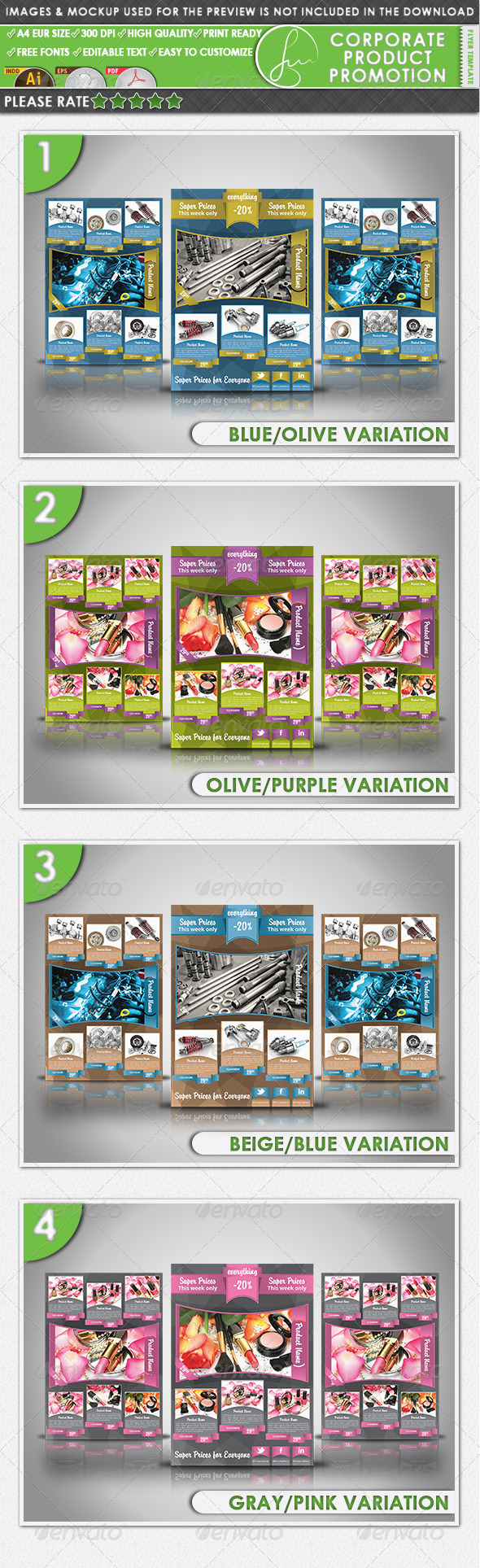 GraphicRiver Corporate Product Promotion Flyer Template 3863934