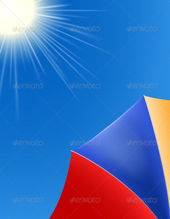 GraphicRiver Beach Umbrella 5680676