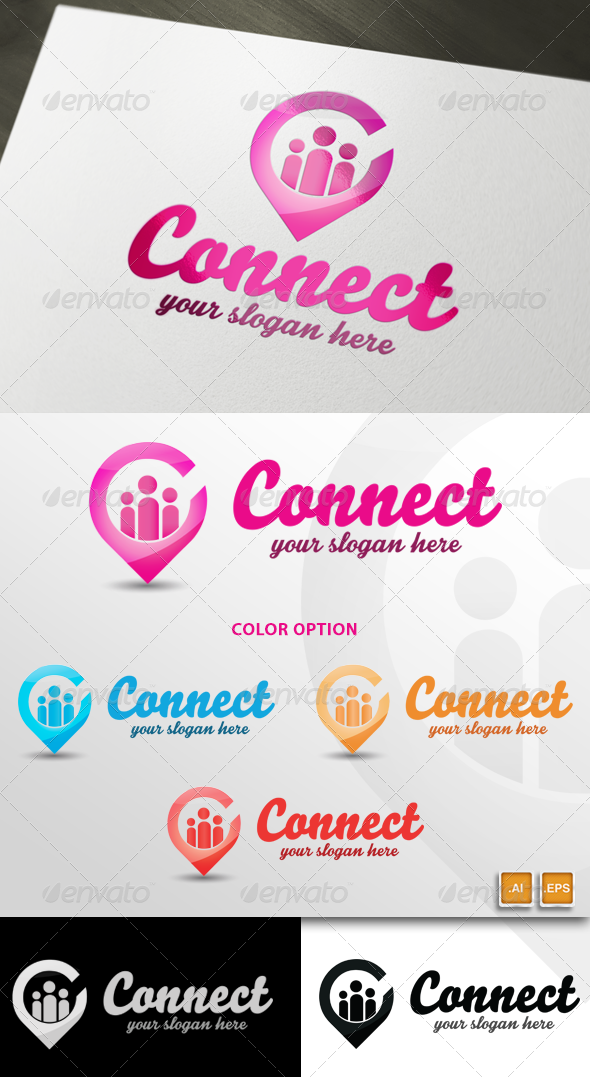 GraphicRiver Social Connect Logo Template 5680910