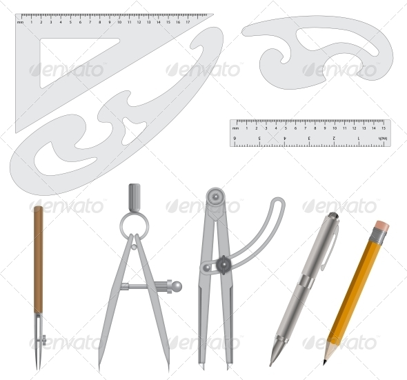 GraphicRiver Measurement Instrument Set 5680952
