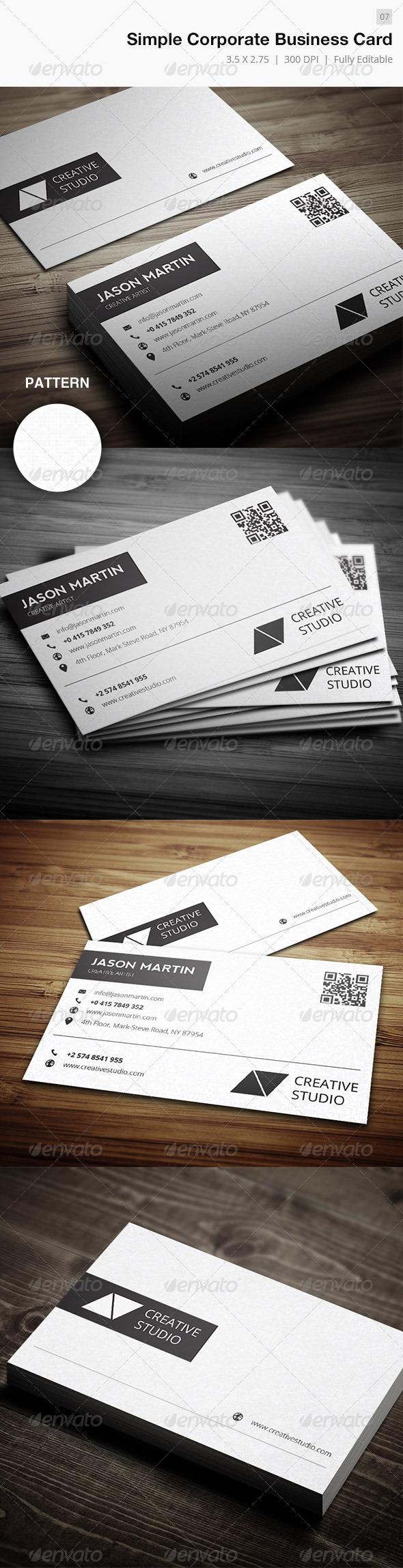 Simple Corporate Business Card - 07 - Corporate Business Cards
