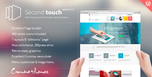 ThemeForest Second Touch Powerful metro styled theme 5681032