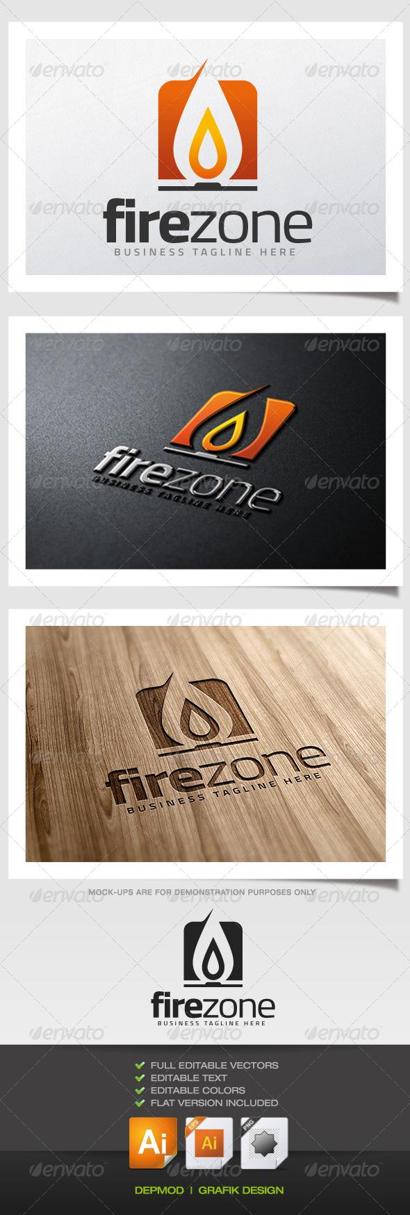 GraphicRiver Fire Zone Logo 5681324