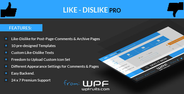 CodeCanyon Like Dislike Counter Wordpress Plugin 5681593