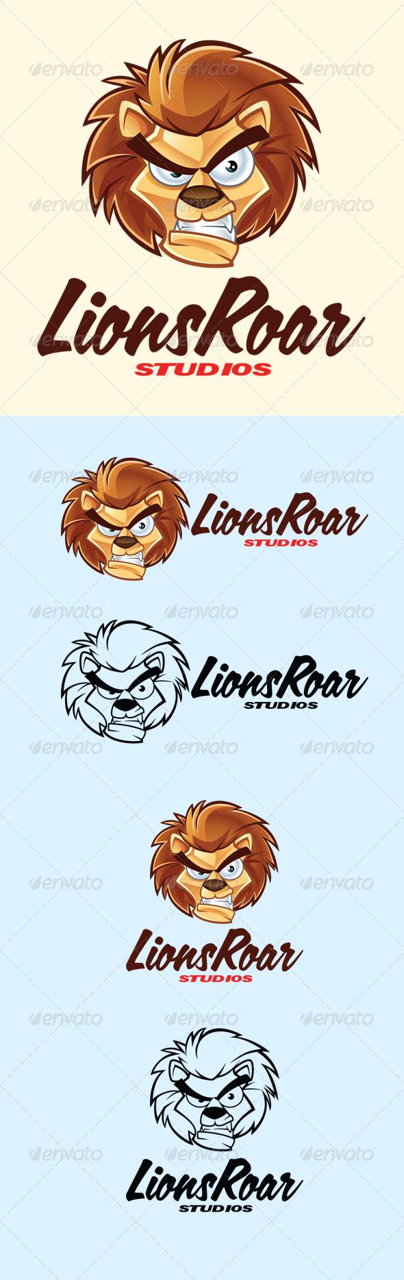 GraphicRiver Cartoon Lion Logo 5681640
