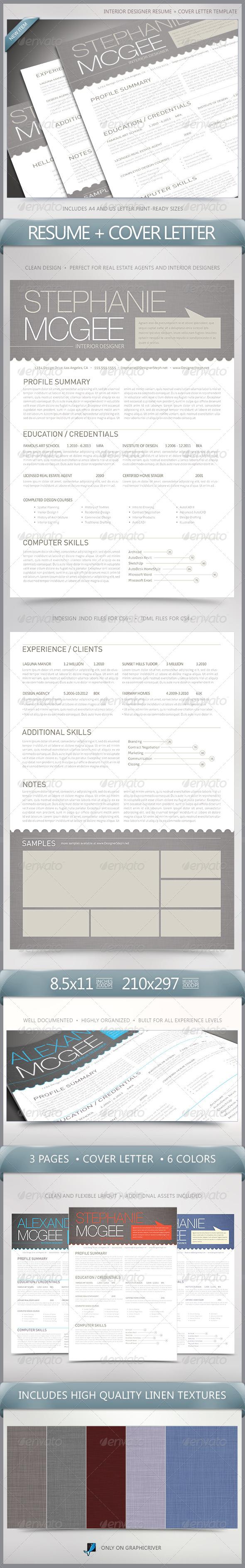 GraphicRiver Clean Interior Designer Resume 5591455