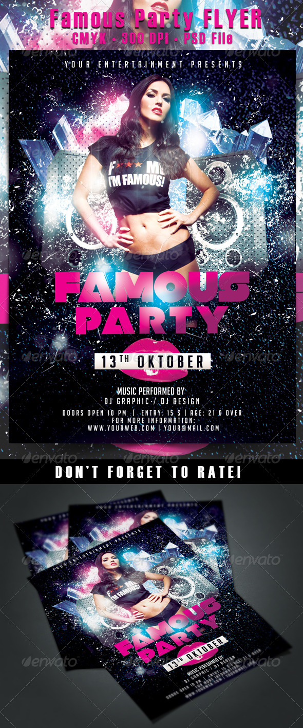 Famous Party Flyer - Events Flyers