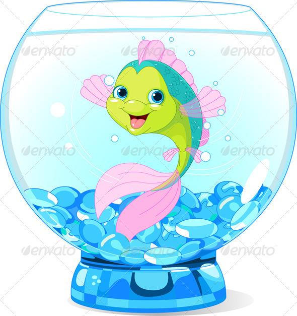 GraphicRiver Cartoon Fish in Aquarium 5682512