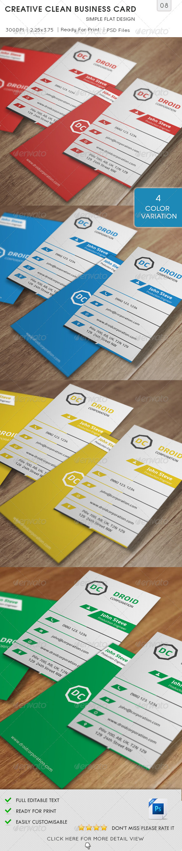 GraphicRiver Creative Clean Business Card v8 5682537