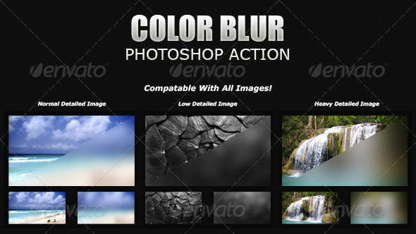 GraphicRiver Color Blur Photoshop Action Add-On 5682550