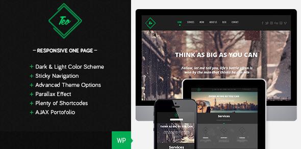 Teo - Responsive Parallax Single Page Theme - Portfolio Creative