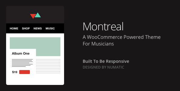 Montreal - WooCommerce Powered Music Theme - WooCommerce eCommerce