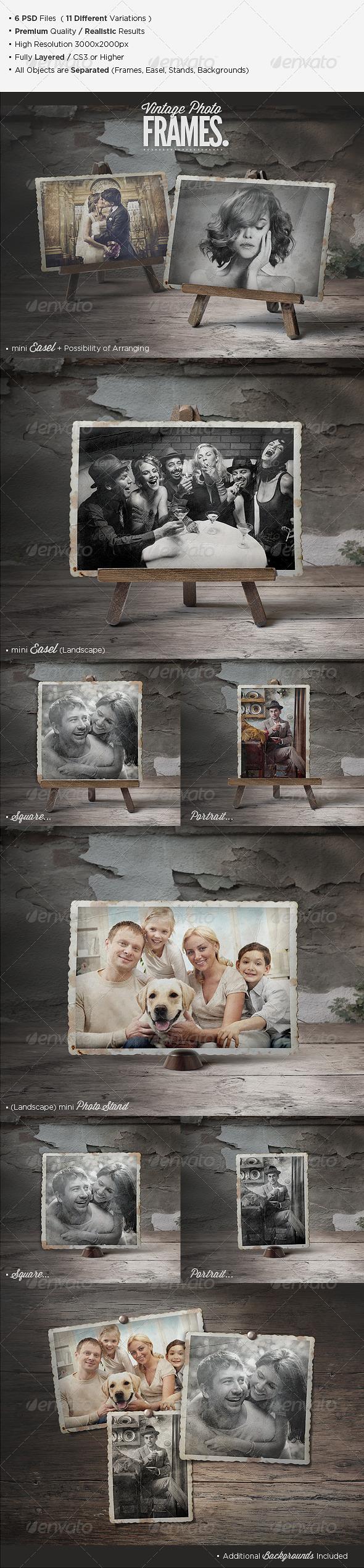 GraphicRiver Premium Vintage Photo Frames 5683010