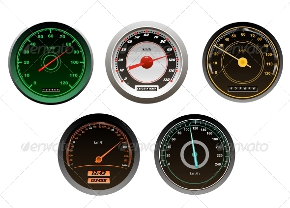 GraphicRiver Racing Cars Speedometers Set 5683058