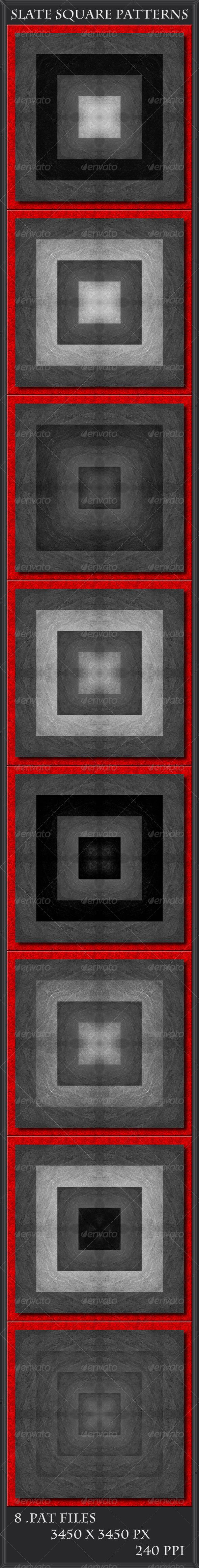 GraphicRiver Slate Square Patterns 5683059