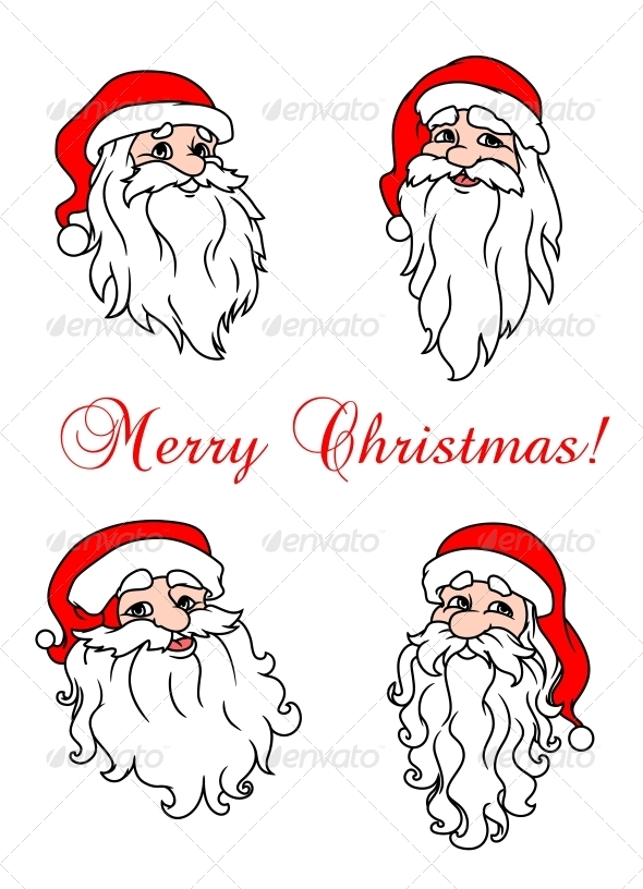 GraphicRiver Four Cheerful Santa Clauses 5683067