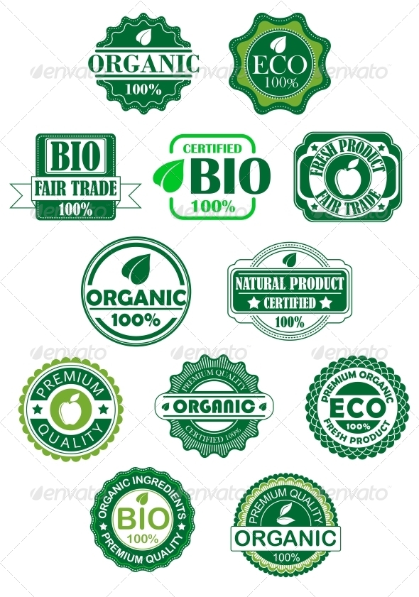 GraphicRiver Natural and Bio Labels 5683071