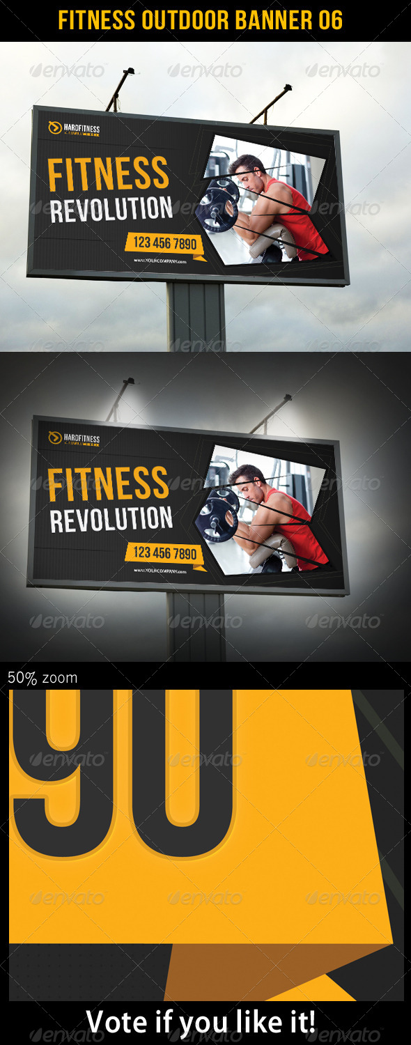 Fitness Outdoor Banner 06 - Signage Print Templates