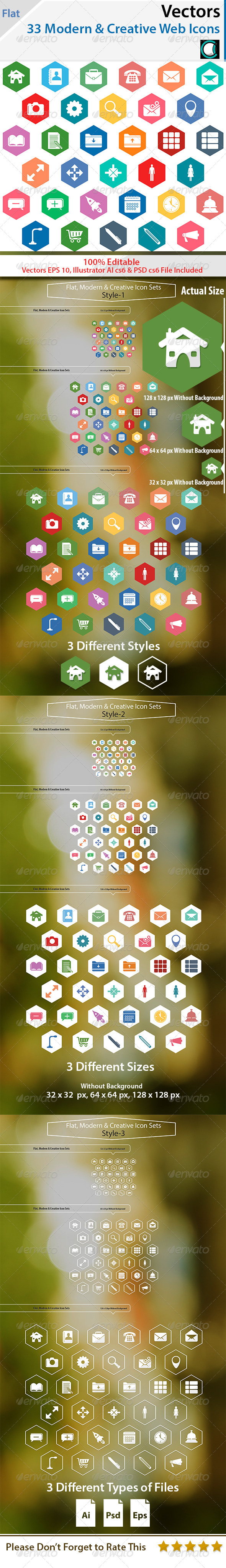 GraphicRiver Flat Modern and Creative Web Icons 5683107